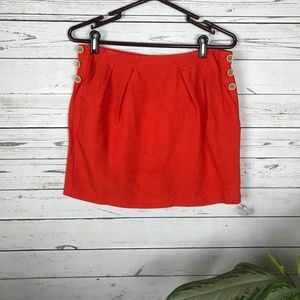 Banana Republic Orange Linen Blend Skirt - V3